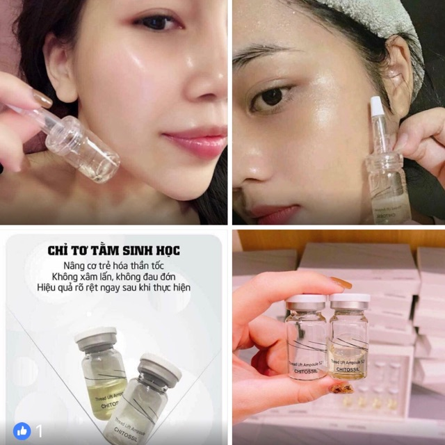 Cay chi to tam Chitossil Thread Lifting Ampoule 521 hộp 10 lo