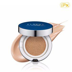 Phan nuoc Klavuu Blue Pearlsation High Coverage Marine Collagen Aqua Cushionc spf50+ pa+++