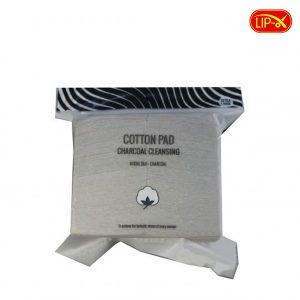 Bong tay trang thanh hoat tinh Miniso Cotton Pad Charcoal Cleansing Nhat Ban