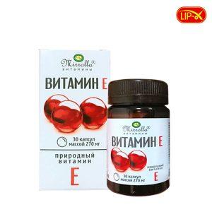 Vien uong Vitamin E Mirrolla 270mg hop 30 vien cua Nga