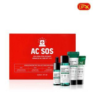 Set tri mun 4 mon Some By Mi AC SOS Kit AHA-BHA-PHA 30 Days Miracle chinh hang Han Quoc